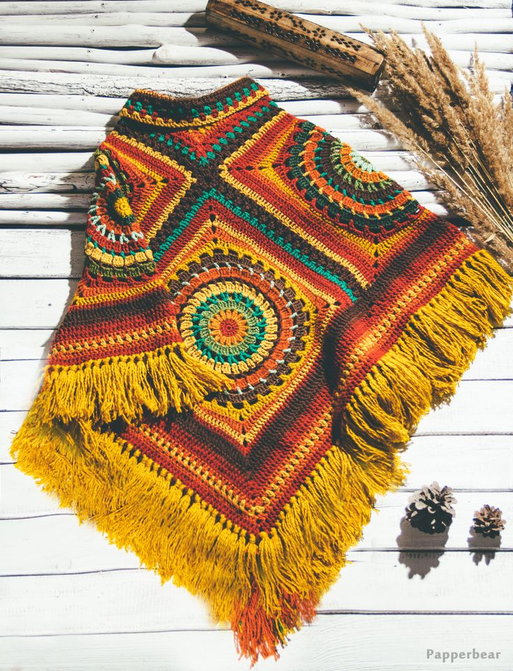 vintage ethnic poncho