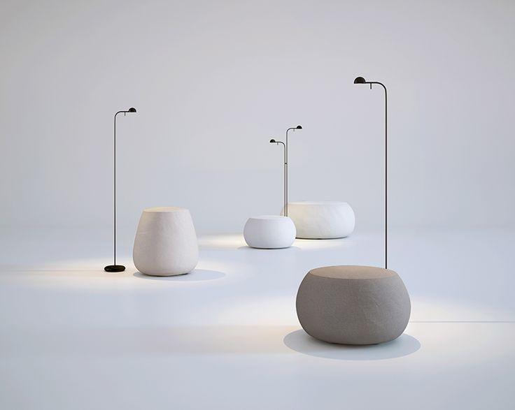 Pin floor lamp designed by Ichiro Iwasaki.