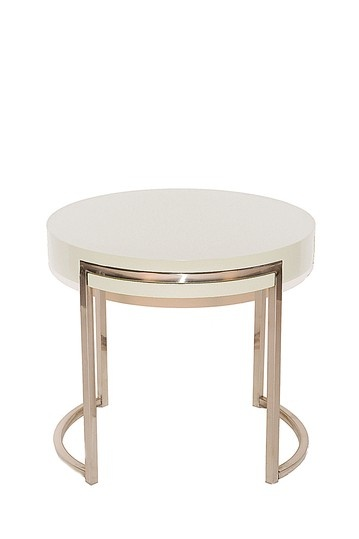 Best Coffee Tables Images On Pinterest Round Coffee Tables - White round bedside table