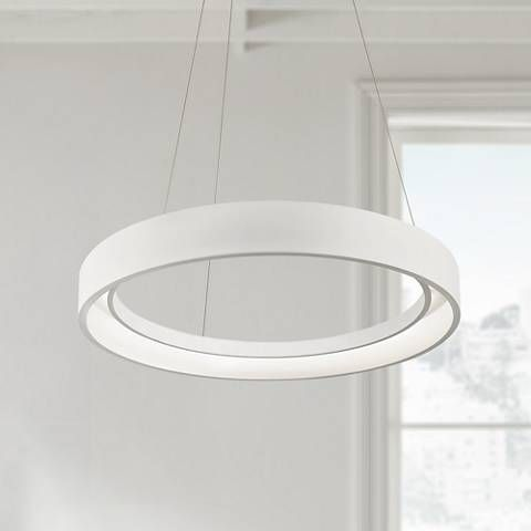 "Elan Fornello 23 1/2"" Wide Dimmable LED White Pendant Light"