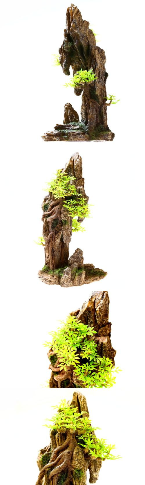 Animals Fish And Aquariums: Mountain View 13.8 H Aquarium Ornament Decoration - Fish Tank Tree Cave Resin -> BUY IT NOW ONLY: $37.89 on eBay!