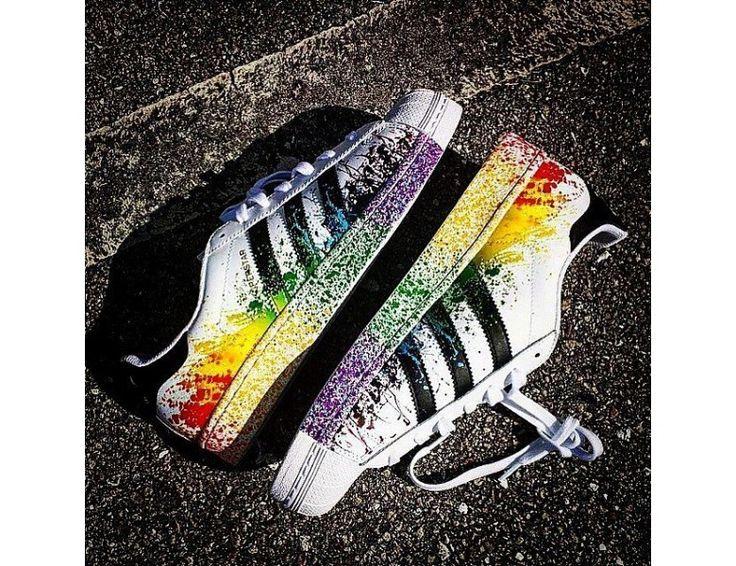 Adidas Superstar LGBT Pride Pack Running Weiß Ftw/Kern Schwarz/Regenbogen D70351 Reduziert Online Kaufen