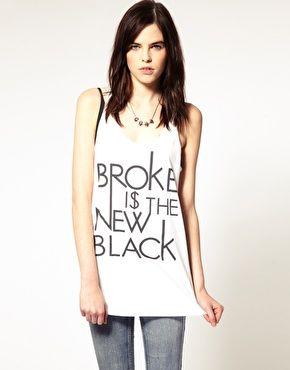 broke is the new black tee.