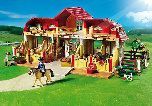 Playmobil Haras Avec Chevaux