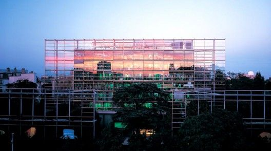 Fondation Cartier  by Jean Nouvel. This building plays with defining space by using transparency