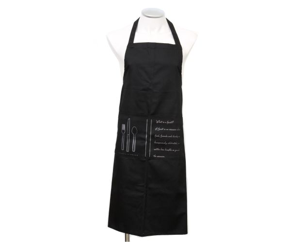 What would a Feast Collection be without an apron?! Our luxury black cotton Feat Apron is ideal for the budding master chef in you! #cotton #chef #black #apron #kitchen