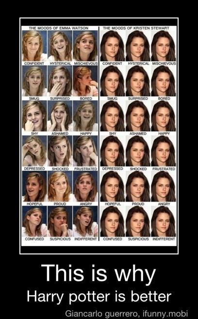 OMG!! I love this.... Hate Kristin Stewert.... love Emma Watson and Harry Potter!Harrypotter, Emmawatson, Emma Watson, Kristen Stewart, Funny, So True, Breaking Dawn, Harry Potter, True Stories