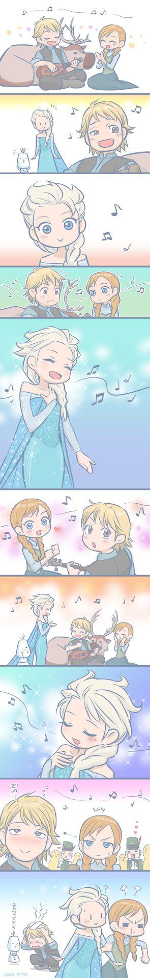 Kristelsa - Elsa's singing Cute, but not shipping it.