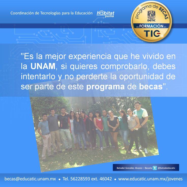 Vive una gran experiencia y no te pierdas el programa de #BecasEducaTIC de @habitatPumaUNAM Más información sobre requisitos y fechas importantes en: http://www.educatic.unam.mx/jovenes/