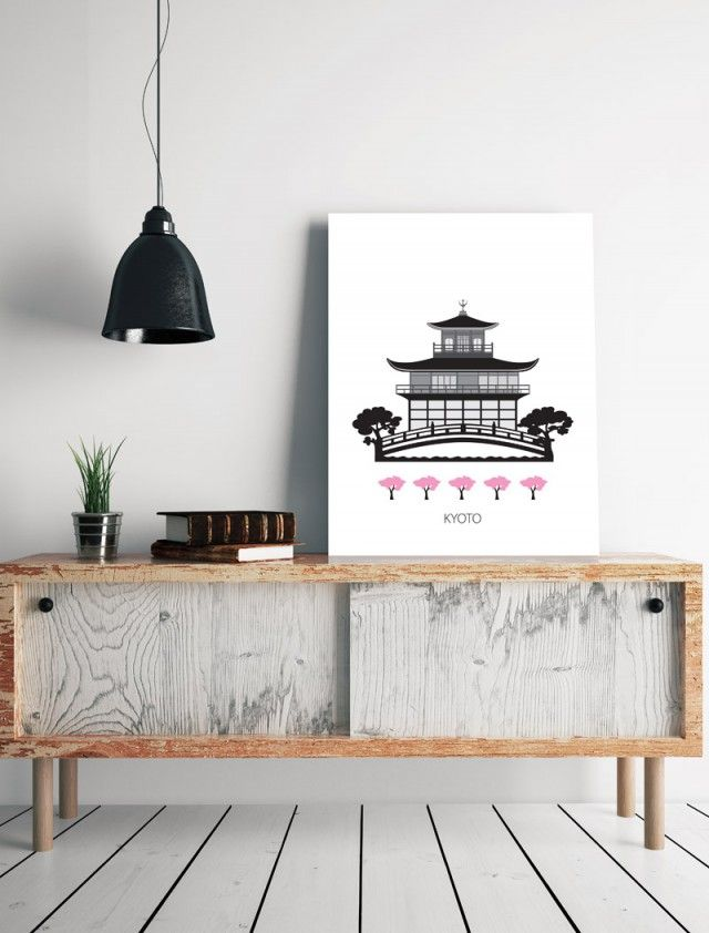 Kyoto, city posters art print by Scandinavian Forma Nova - Nordic Design Collective