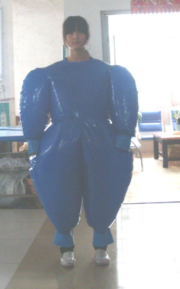 latex suits can cause severe skin irritation, so we make a whole range of duplex pvc suits to compensdate for this, here with this larger suit, it has all welded seam,s and valve inflation, for hou...