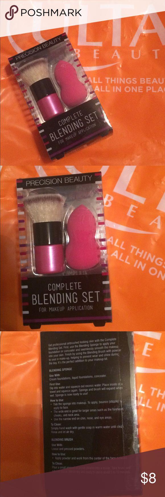 Ulta Complete Blending Set NEW Purchased at Ulta. Includes Blending Sponge and Blending Brush. Makeup