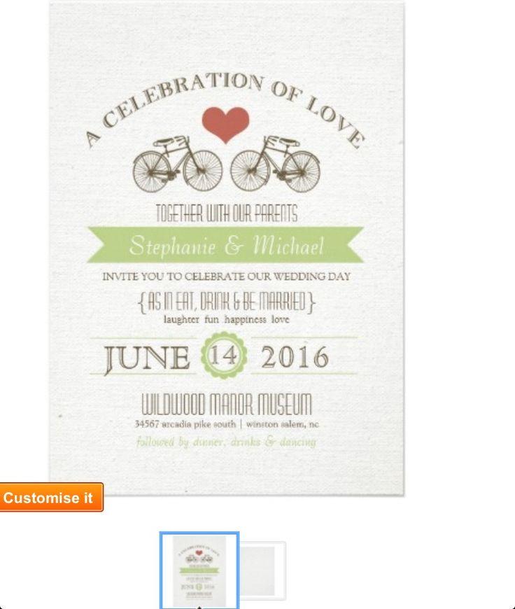 Bike themed invites