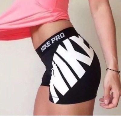 """NWT Women's Nike 3"""" Compression Shorts SZ XS Dri Fit Black 799093 010"""