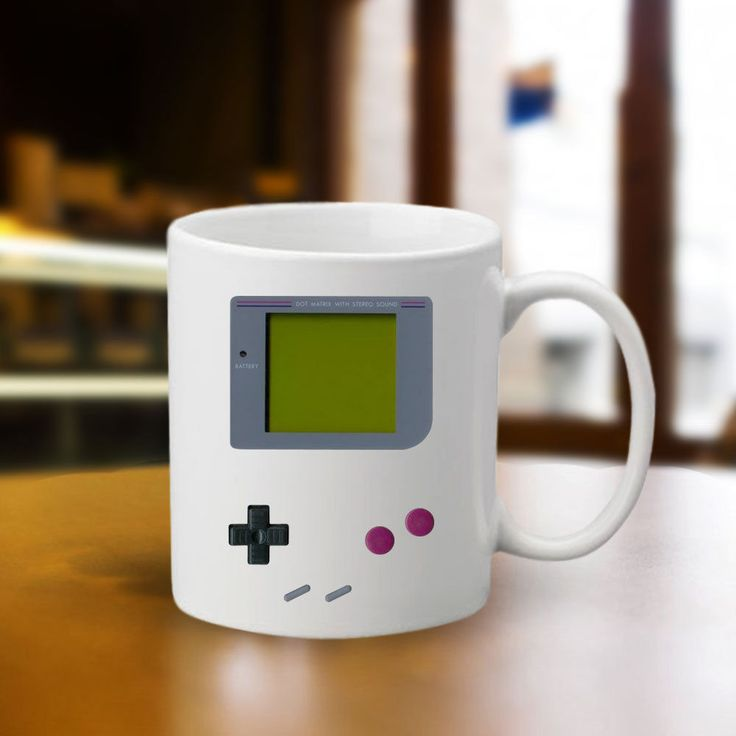 DIGITAL GAMEBOY COFFEE 11oz Ceramic Tea Cup Mug NINTENDO Game Boy NES Tetris Mug #Handmade