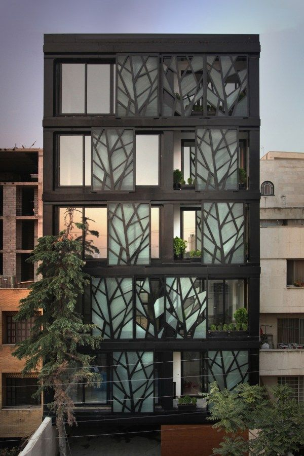 15 must see buildings with unique perforated architectural fa ades skins 3 danial apartment. Black Bedroom Furniture Sets. Home Design Ideas