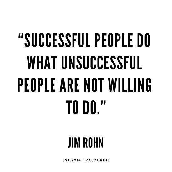 "'""Profitable folks do what unsuccessful persons are not prepared to do."" 