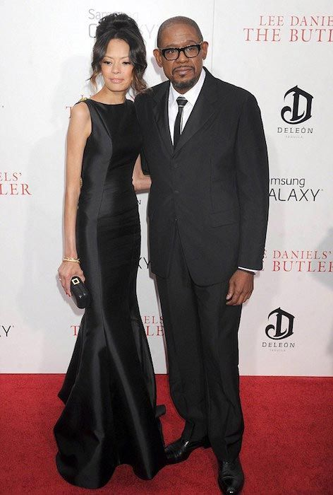 Forest Whitaker and his wife Keisha Whitaker...