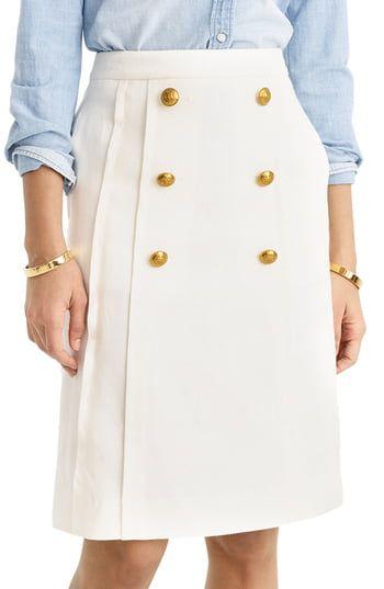 1ea1130ac J.Crew Pleat Front Stretch Linen Blend Sailor Skirt | The Most ...