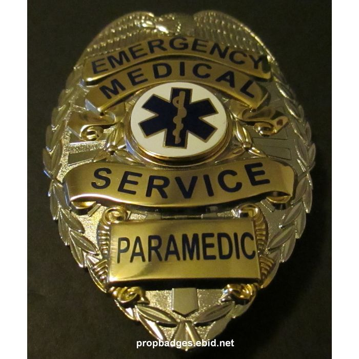 Paramedic Breast Badge with pin back. Full size. propbadges.ebid.net