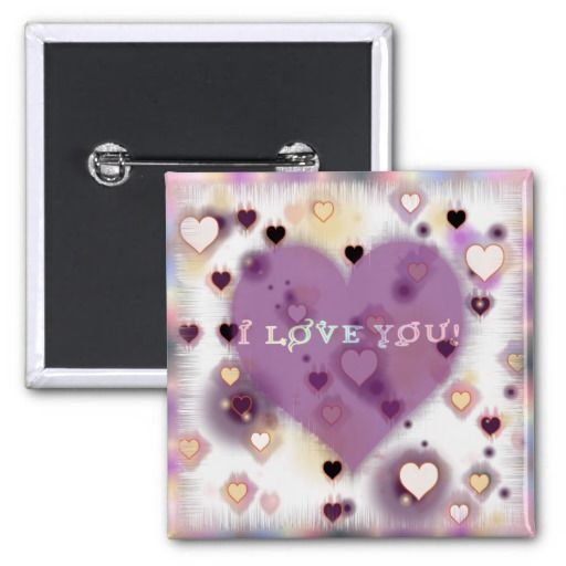 Valentine's Day- purple hearts button