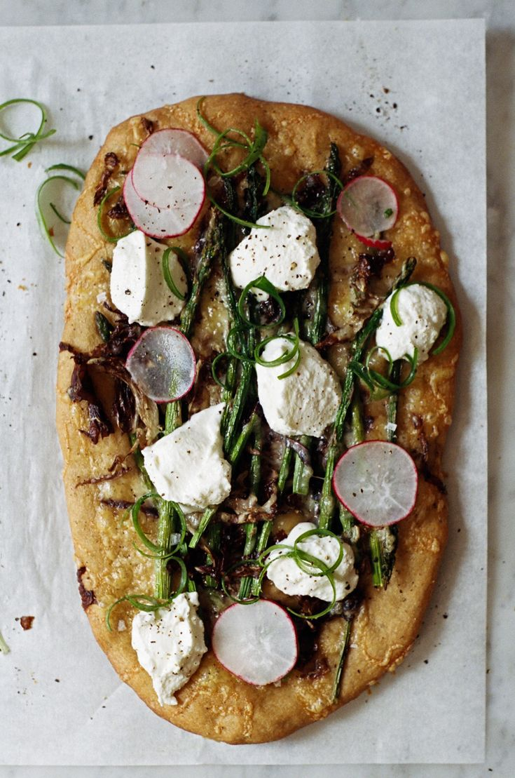 whole wheat flatbreads with spring vegetables   apt 2b baking co