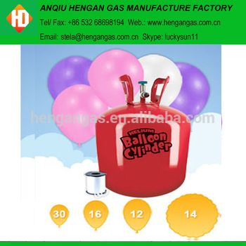 Professionally Supply Small Disposable Helium Gas Cylinder For Birthday Party Decorations