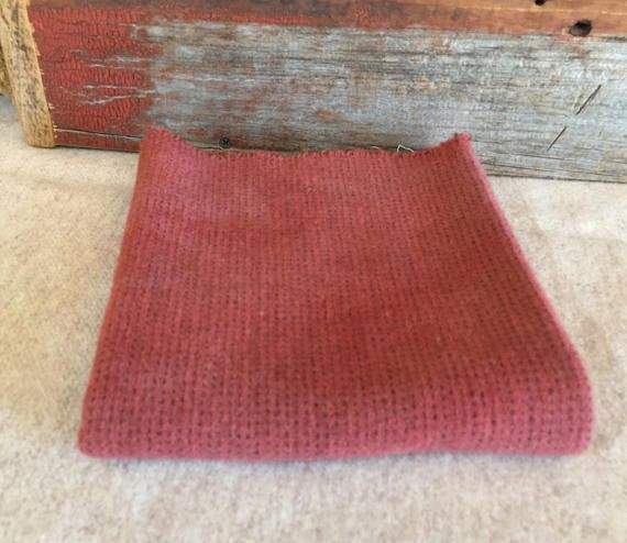 Old Coral Rose Hand Dyed Felted Wool Fabric for Rug Hooking