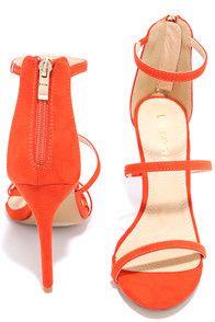 Sexy Orange Heels - Dress Sandals - High Heel Sandals - $32.00
