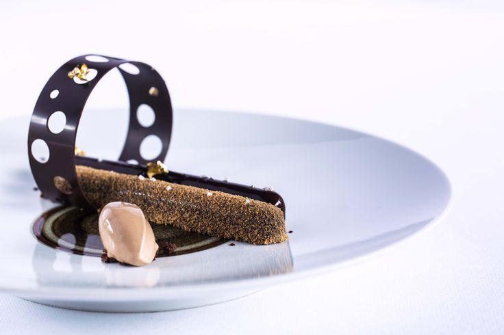 Chocolat Niangboghana au Chalet du Mont d'Arbois, Megève, France Photo @MCellard #RelaisChateaux #Chef #Gastronomie