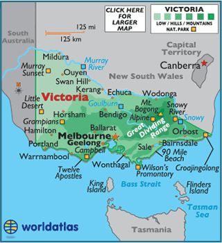 Image result for map of victoria