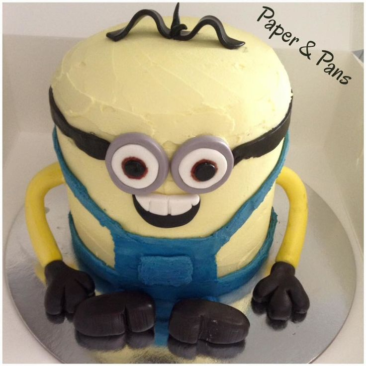 Minion Cake by Townsville Business Paper & Pans