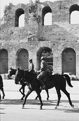 1926 ~ Soldiers in front of the Herodion Theatre, under the Acropolis (photo by Grasser Franz)