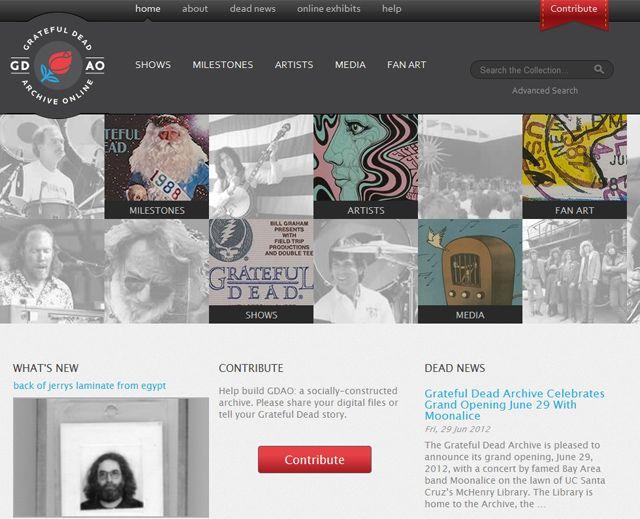 The Grateful Dead Archive Online