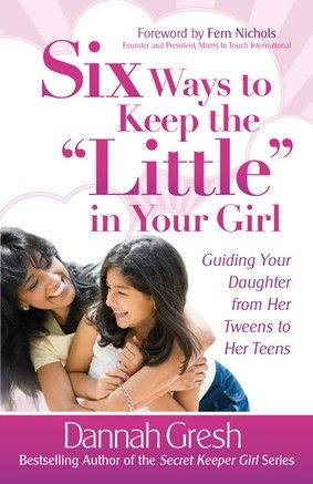 Studies show that the foundation for an emotionally healthy teen girl is built between the ages of 8-12 and that a good relationship with mom is one of the most important factors...If you have a girl in this age group ..or younger you should read this book!