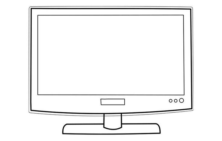 Resultado de imagen para televisor  para colorear