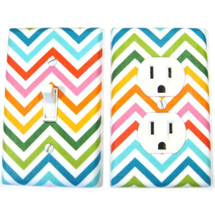 rainbow chevron light switch covers from modernswitch