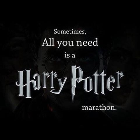 A veces lo que necesitas es un Maraton de Harry Pottee. Maybe... all the time...