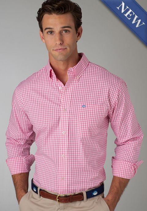 Mens Pink Oxford Shirt