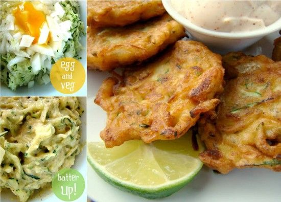 Zucchini fritters with chilli lime mayo