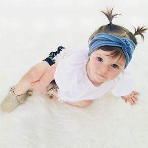http://lillyandlace.com.au/product-category/topknot-baby-fabric-headbands-australia/ Stretchy soft blue denim topknot girls headband
