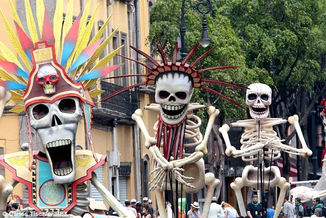 Spectre- Bond does Day of the Dead.