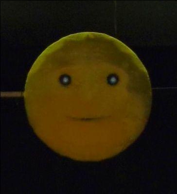 Luna con occhi e bocca semoventi per Pinocchio steampunk ISV - Diametro cm.120