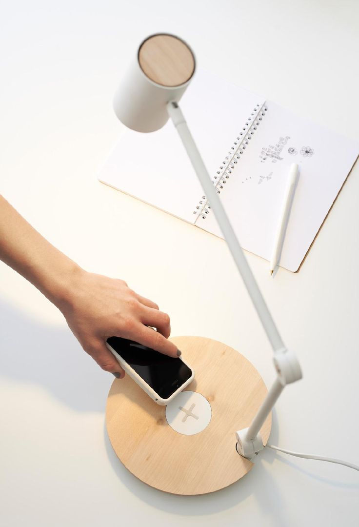 Work lamp with wireless charging - 15 stylish ways to keep your workspace organized