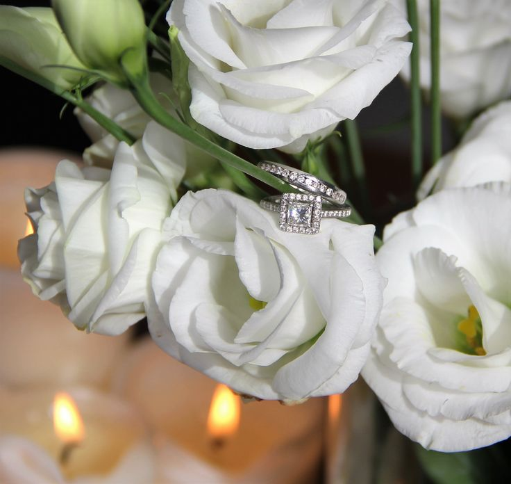 Sparkle sparkle!... Wedding rings...