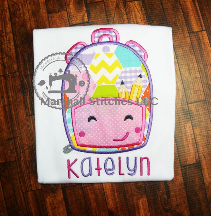 Girl's Back to School Applique Shirt/ Girl School Shirt/ Backpack School Shirt/ Girls Kindergarten Shirt/ Girl's Preschool Shirt by MarshallStitches on Etsy https://www.etsy.com/listing/398683149/girls-back-to-school-applique-shirt-girl
