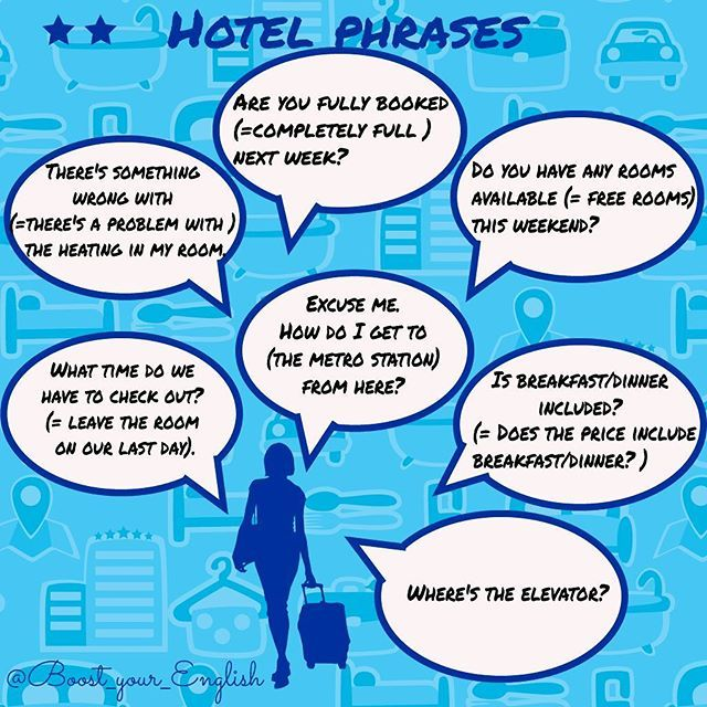 ✅ HOTEL vocabulary: Finish these questions or statements with a suitable word. 1️⃣1 I'm leaving in a few minutes. Could I pay my _______ ? 2️⃣Is that just bed and breakfast or full _______ ? 3️⃣Could I book a twin _______ ? 4️⃣I'm interested in next weekend. Do you still have rooms _______ ? 5️⃣(Your room is on the tenth floor) Excuse me. Where's the _______ ? #boost_communication #boost_travel #boost_vocabulary