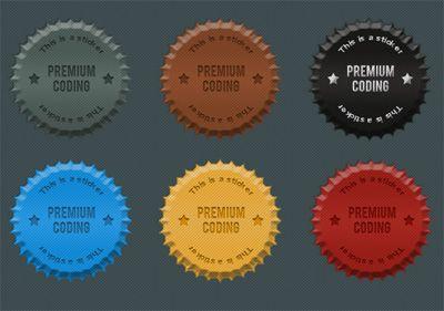 Freebie: 6 Fancy Cork Stickers (PSD)