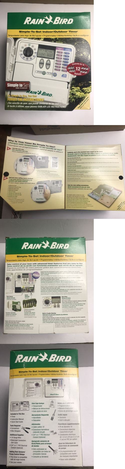 Watering Timers and Controllers 75672: New Rain Bird 12 Zone Indoor Outdoor Water Sprinkler Timer Irrigation Controller -> BUY IT NOW ONLY: $94.85 on eBay!