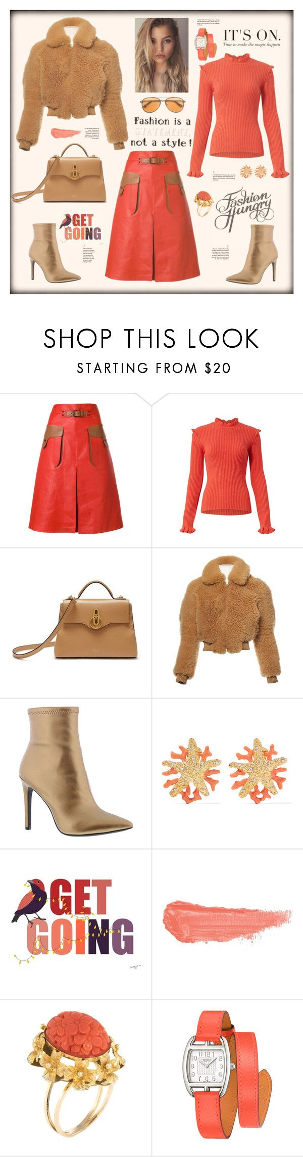 """Fashion hungry"" by zabead ❤ liked on Polyvore featuring Bottega Veneta, Mulberry, Acne Studios, Jessica Simpson, Kenneth Jay Lane, By Terry, Hermès and McQ by Alexander McQueen"